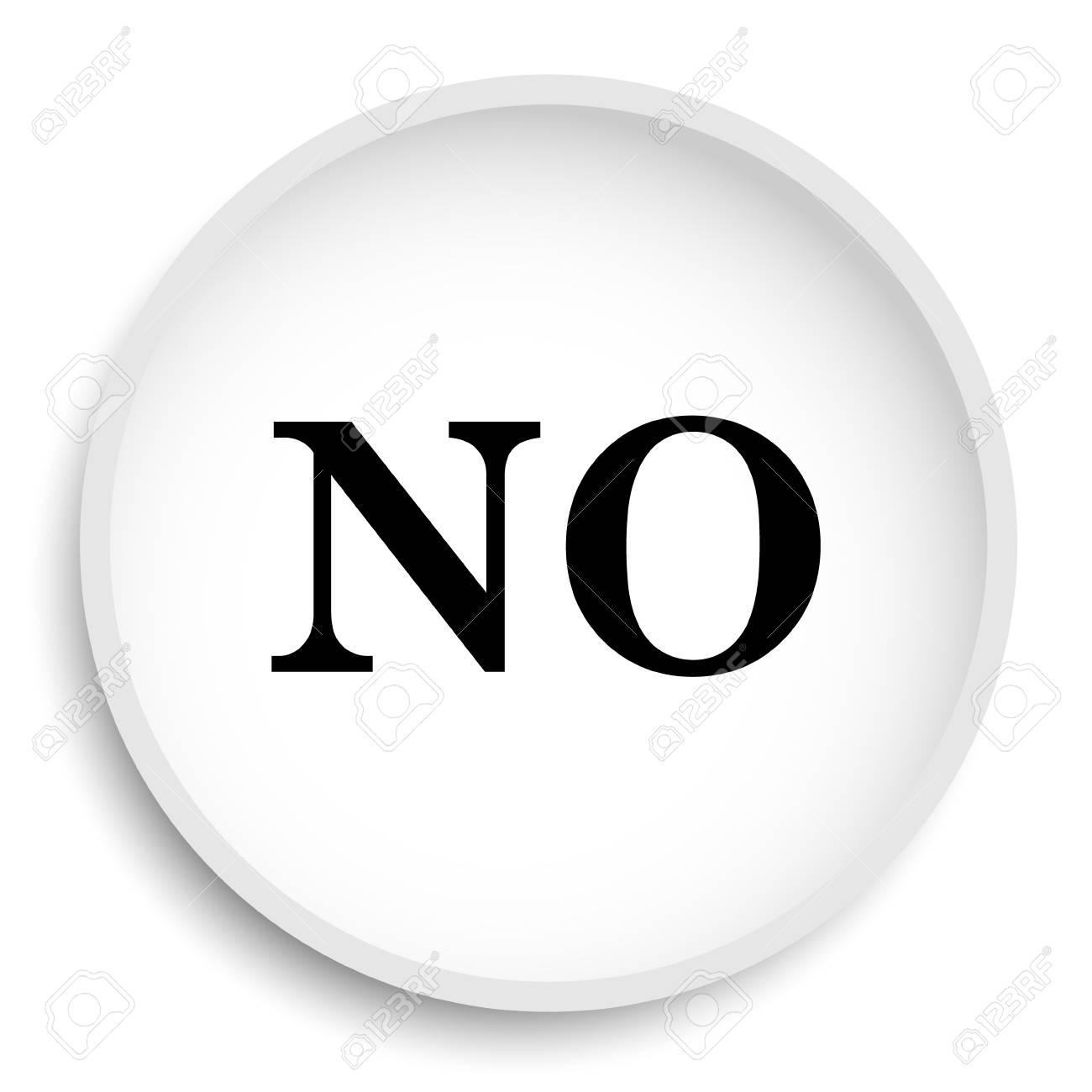 No icon  No website button on white background
