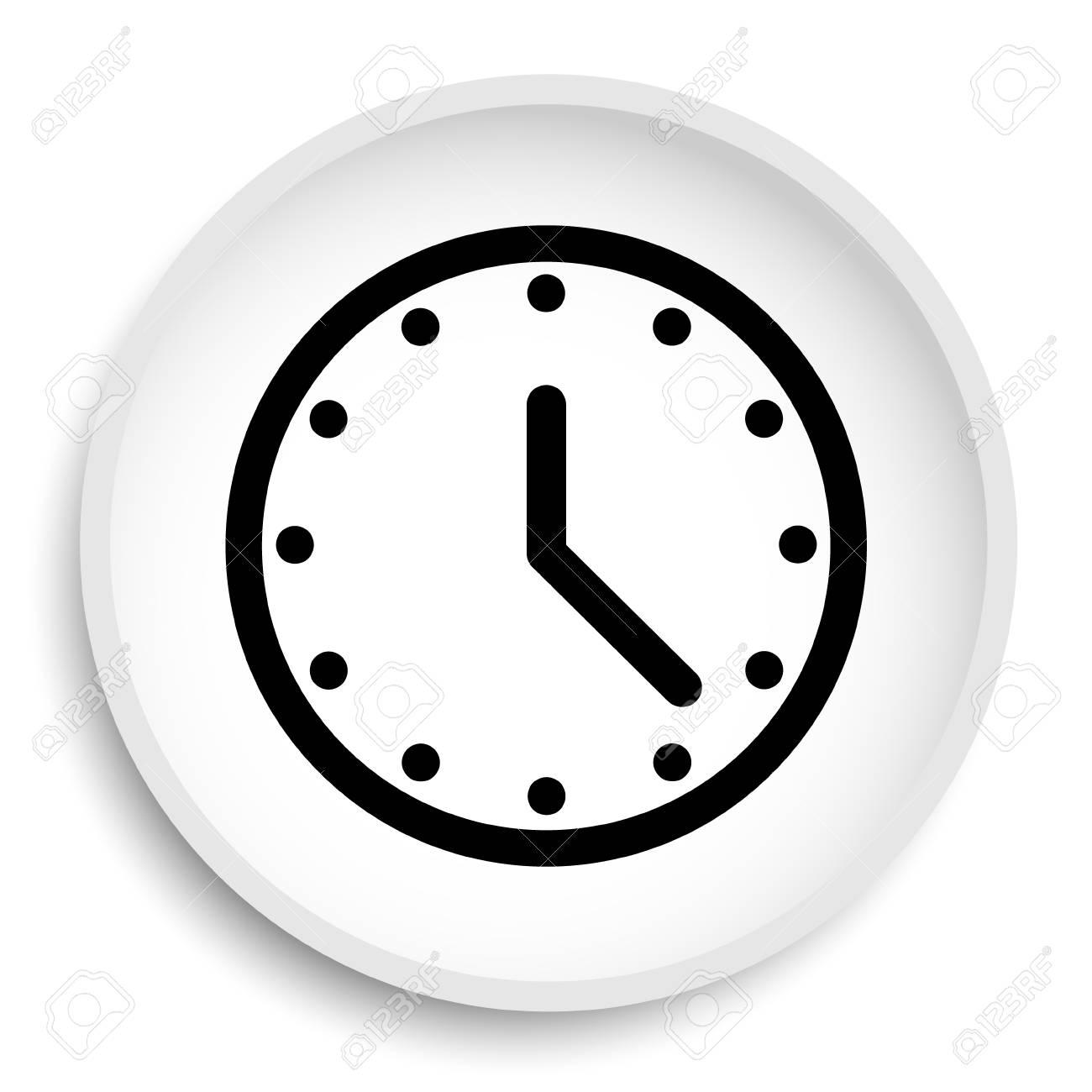 Icono Del Reloj Reloj Web Botón Sobre Fondo Blanco. Fotos, Retratos,  Imágenes Y Fotografía De Archivo Libres De Derecho. Image 75401585.