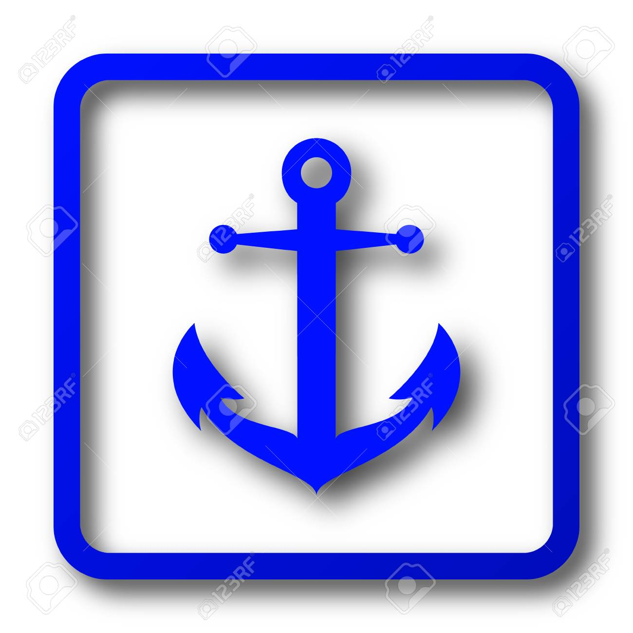 Anchor icon  Anchor website button on white background