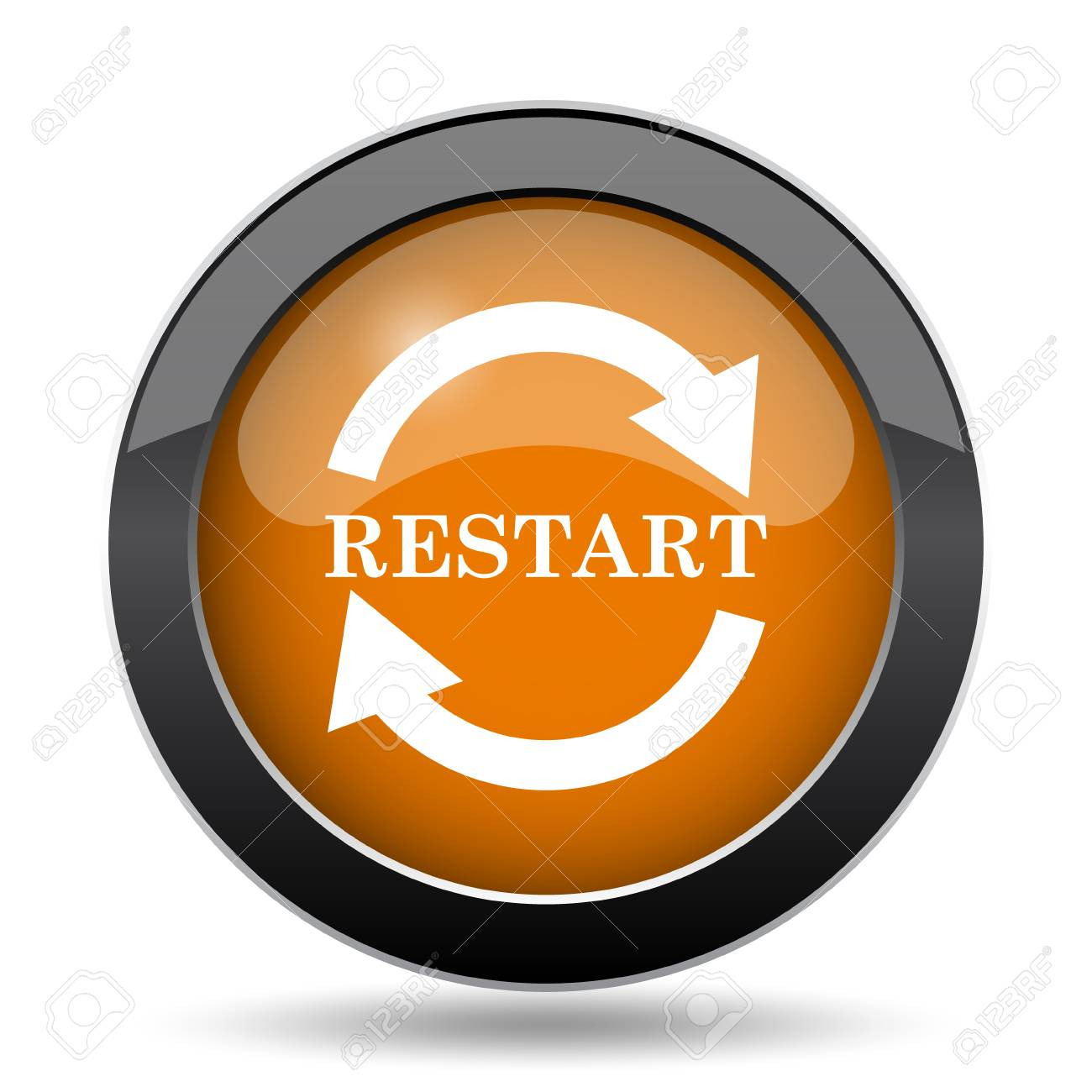 restart icon restart website button on white background stock photo picture and royalty free image image 78310379 restart icon restart website button on white background