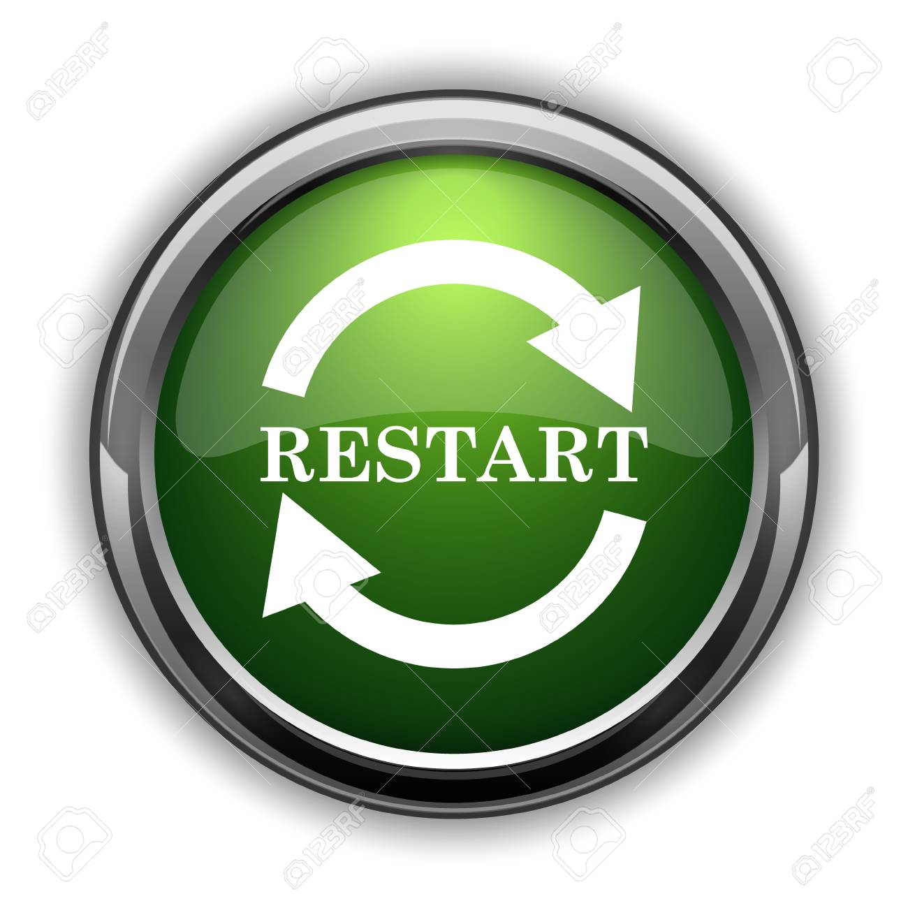 restart icon restart website button on white background stock photo picture and royalty free image image 82350102 restart icon restart website button on white background
