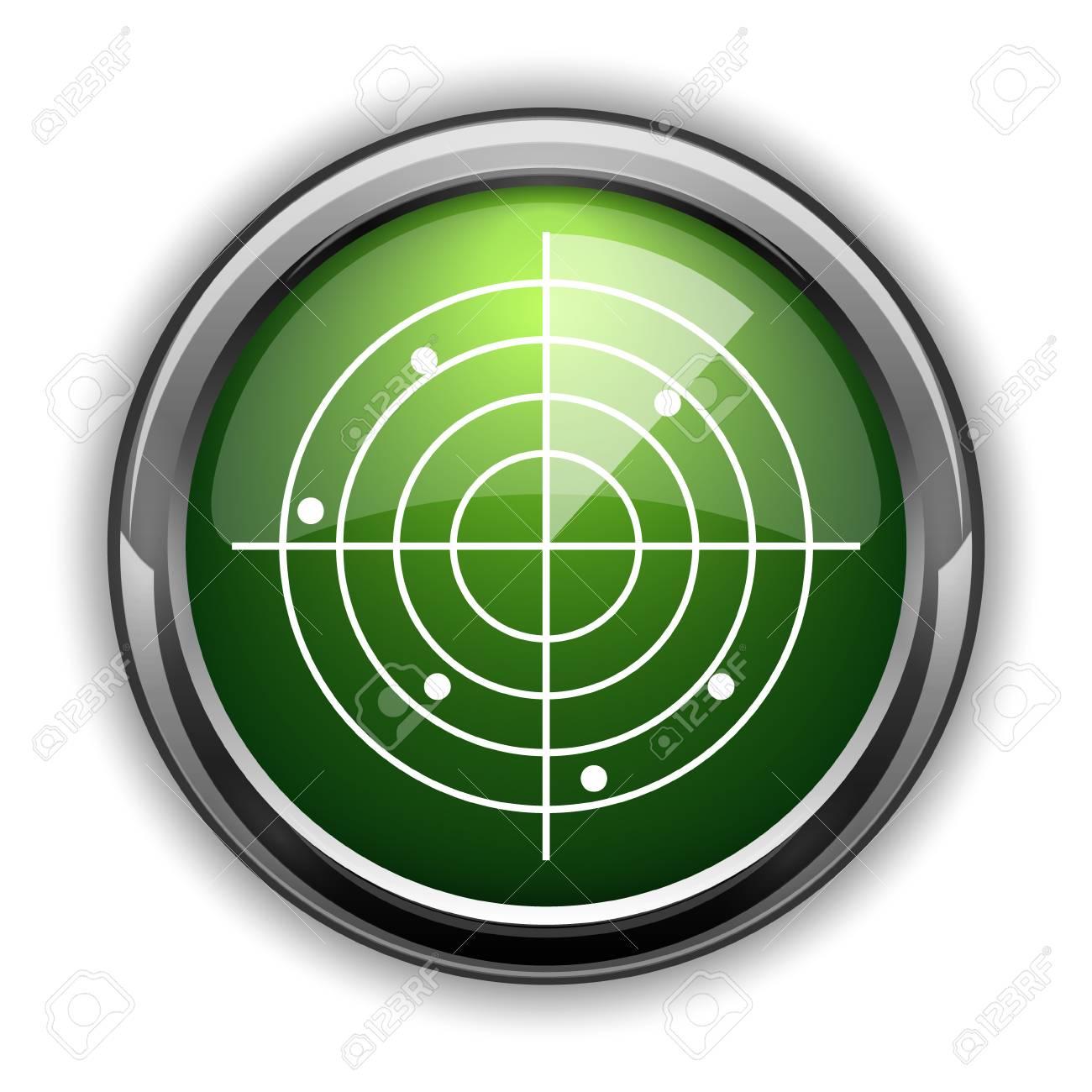 Radar Icon Radar Website Button On White Background Stock Photo