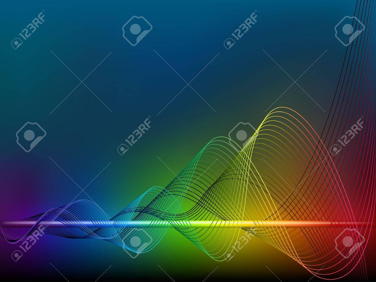 Rainbow  wave lines Stock Vector - 13548143