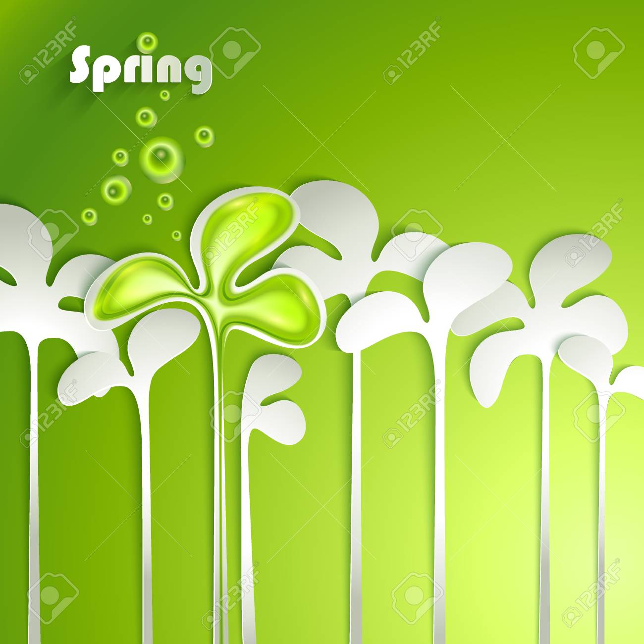 Abstract paper spring plants Stock Vector - 18545558