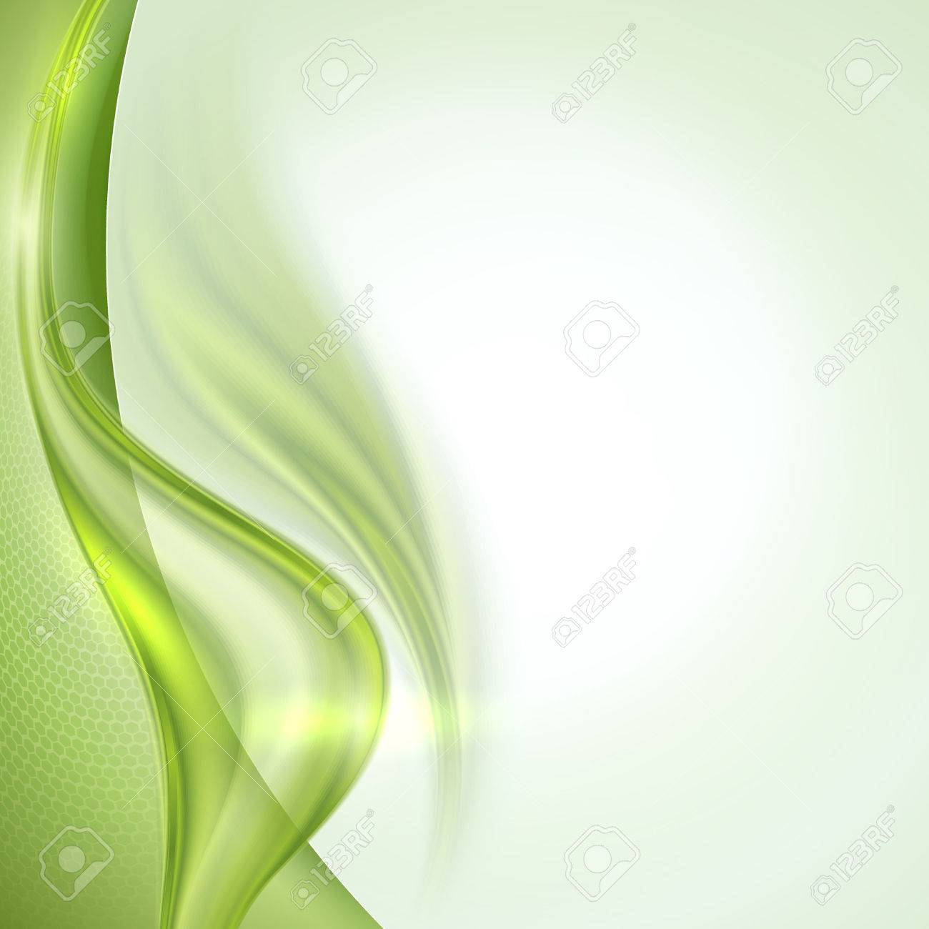 Abstract green waving background - 27331213