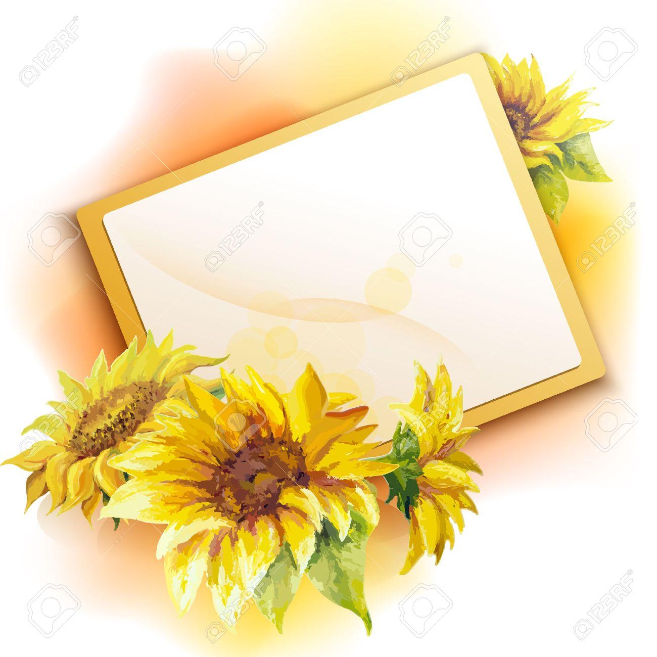 Fondo Del Marco Del Girasol, De La Flor Pintura Al óleo ...