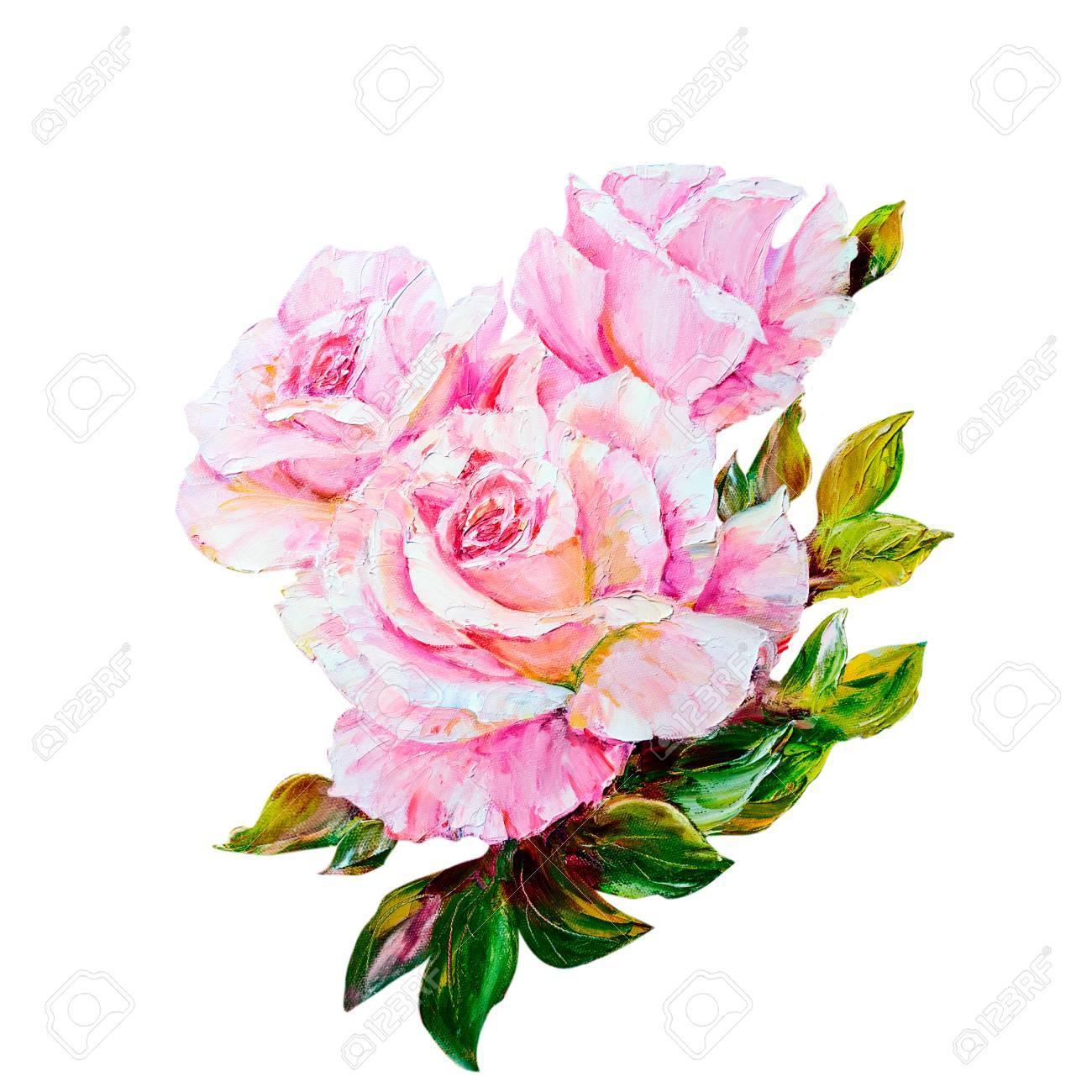Beautiful Roses Peinture A L Huile Sur Toile Banque D Images Et