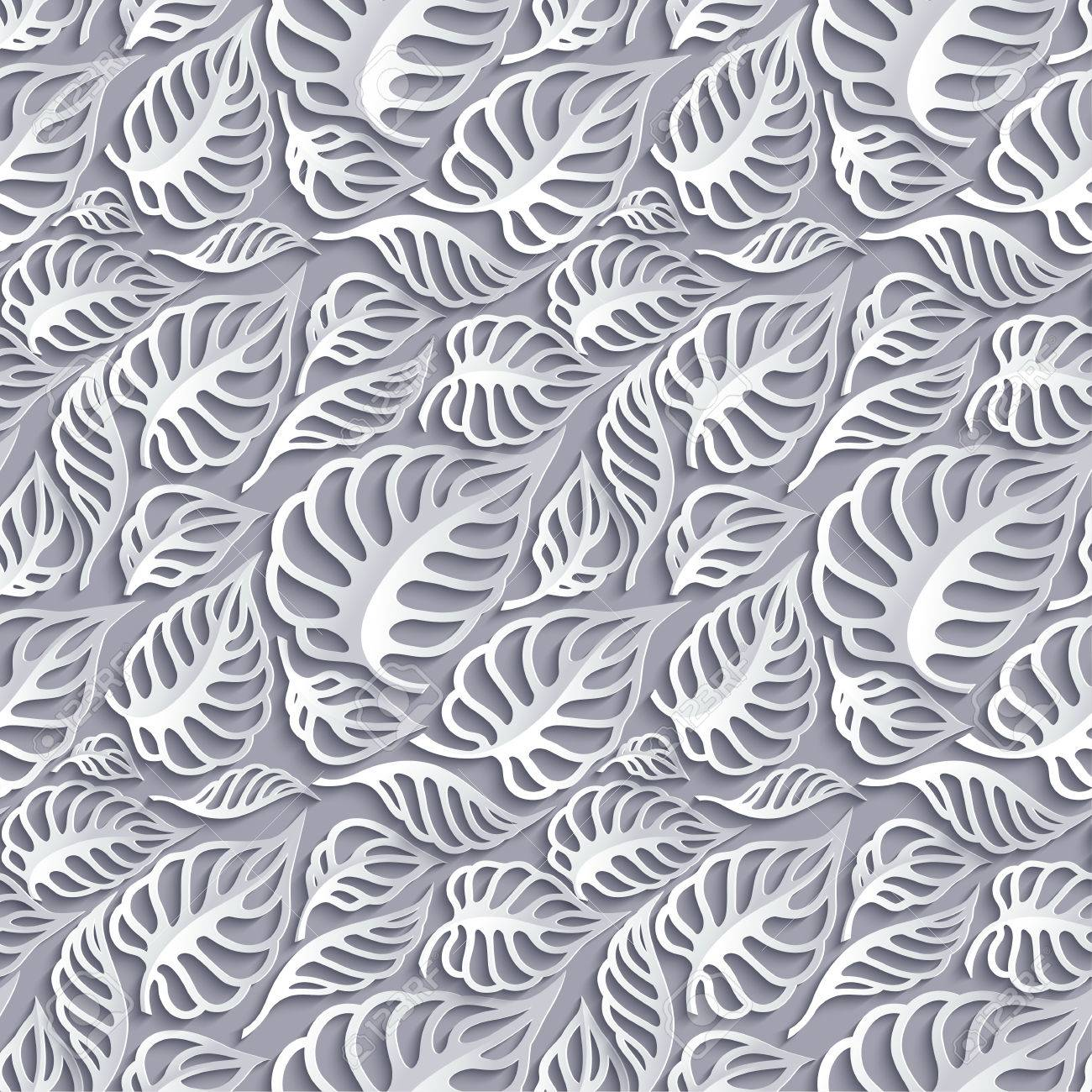Vector leaves 3d seamless pattern background invitation cards vector vector leaves 3d seamless pattern background invitation cards decoration stopboris Images