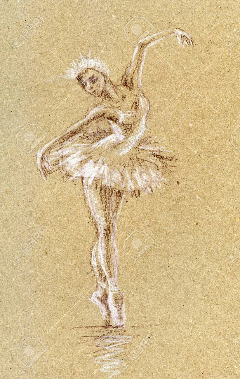 Bailarín Ballet Dibujos Hechos Con Lapiz Wwwmiifotoscom