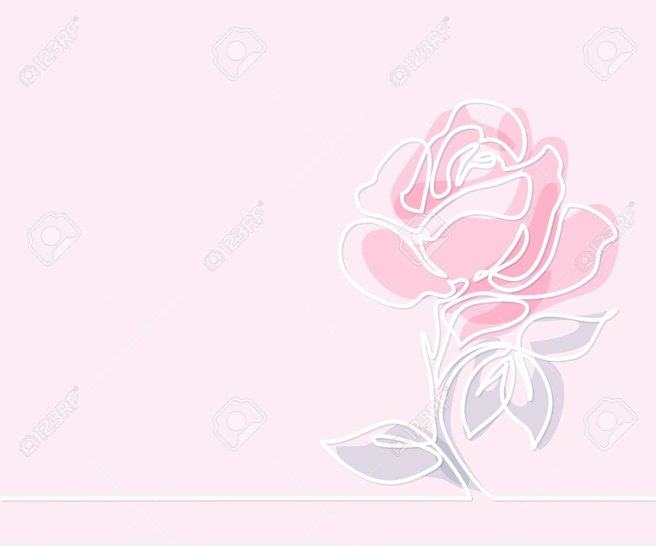 Line Drawing Of Flowers Clipart : Beautiful flowers. continuous line drawing. vector illustration