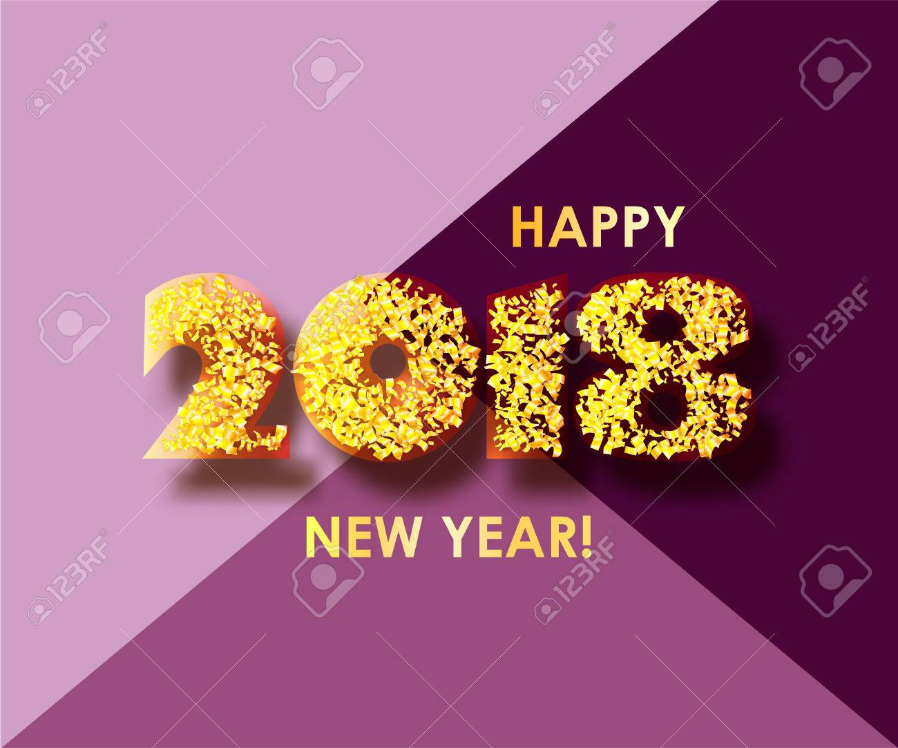 new year 2018 celebration background happy new year colorful digital type on purple background with