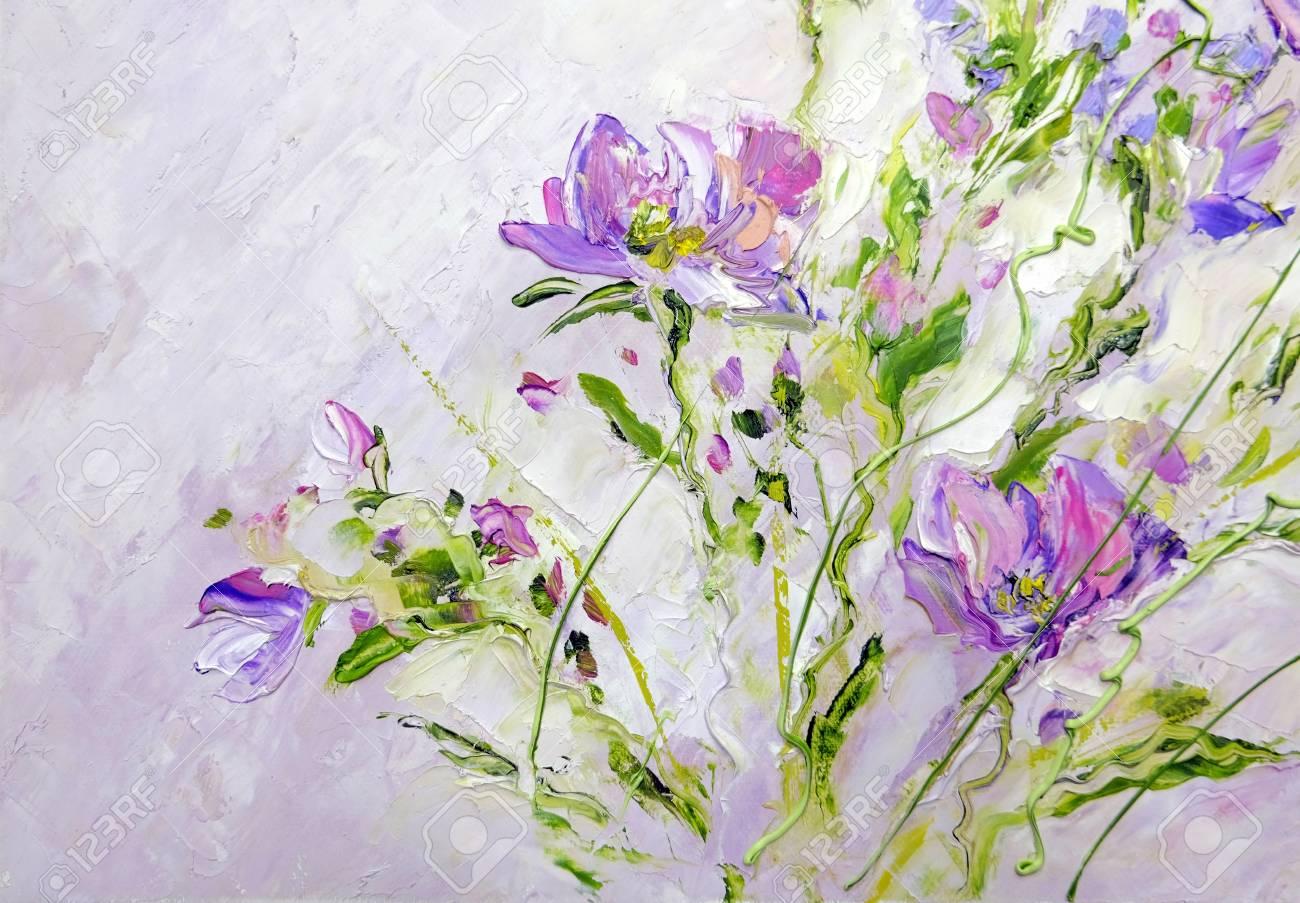 Hand Painted Modern Style Pink Flowers Spring Flower Seasonal
