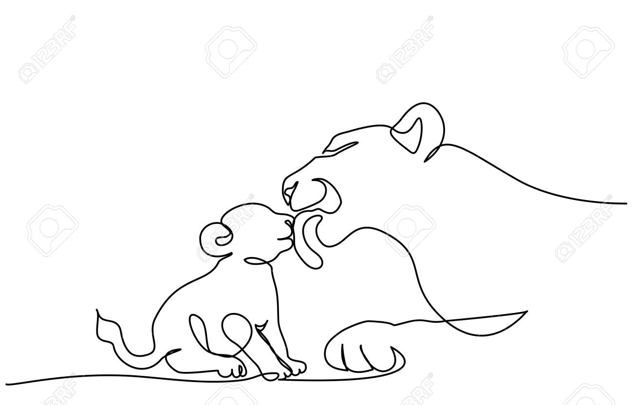 Continuous One Line Drawing Young Lioness With Lion Cub Vector Royalty Free Cliparts Vectors And Stock Illustration Image 126518032 Preview sewing information for #wp366_48. continuous one line drawing young lioness with lion cub vector