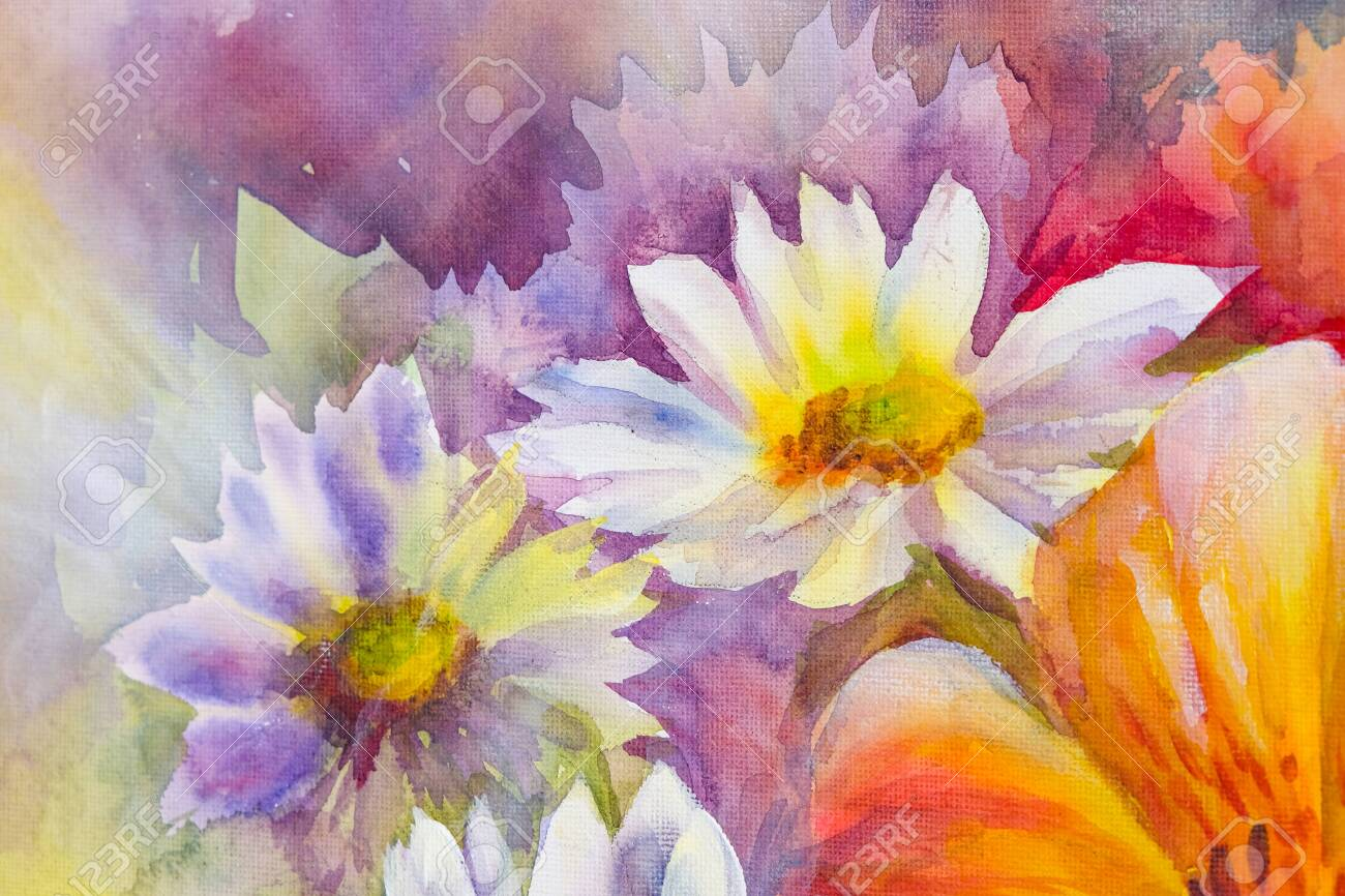 Bright Bouquet Of Spring Flowers Wildflowers Oil Acril Painting Stock Photo Picture And Royalty Free Image Image 138617545