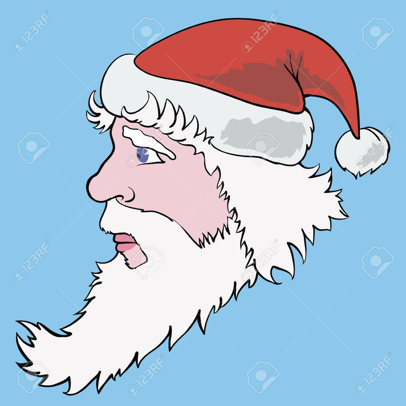 vector colorful Illustration with santa claus for your design Stock Vector - 17152176