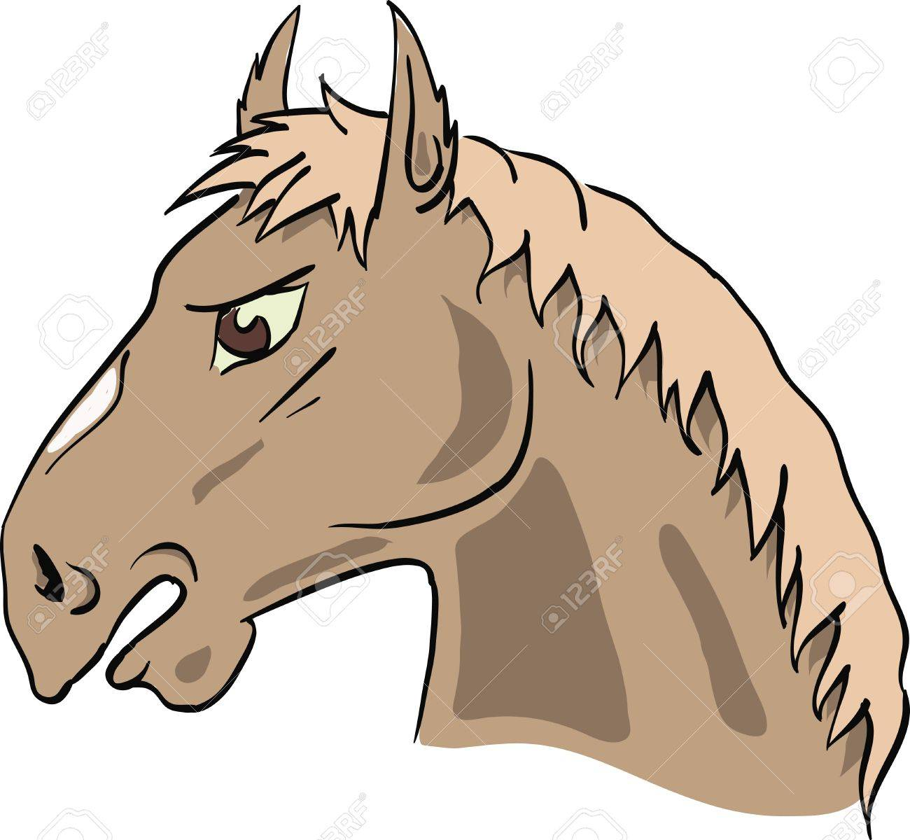 colorful illustration with horse's head for your design Stock Vector - 17152177