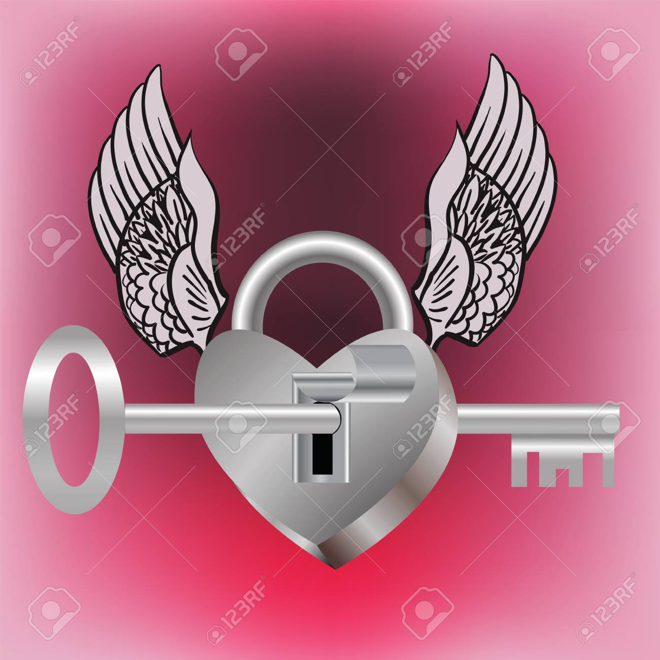 colorful illustration with lock and key for your design Stock Illustration - 18431160