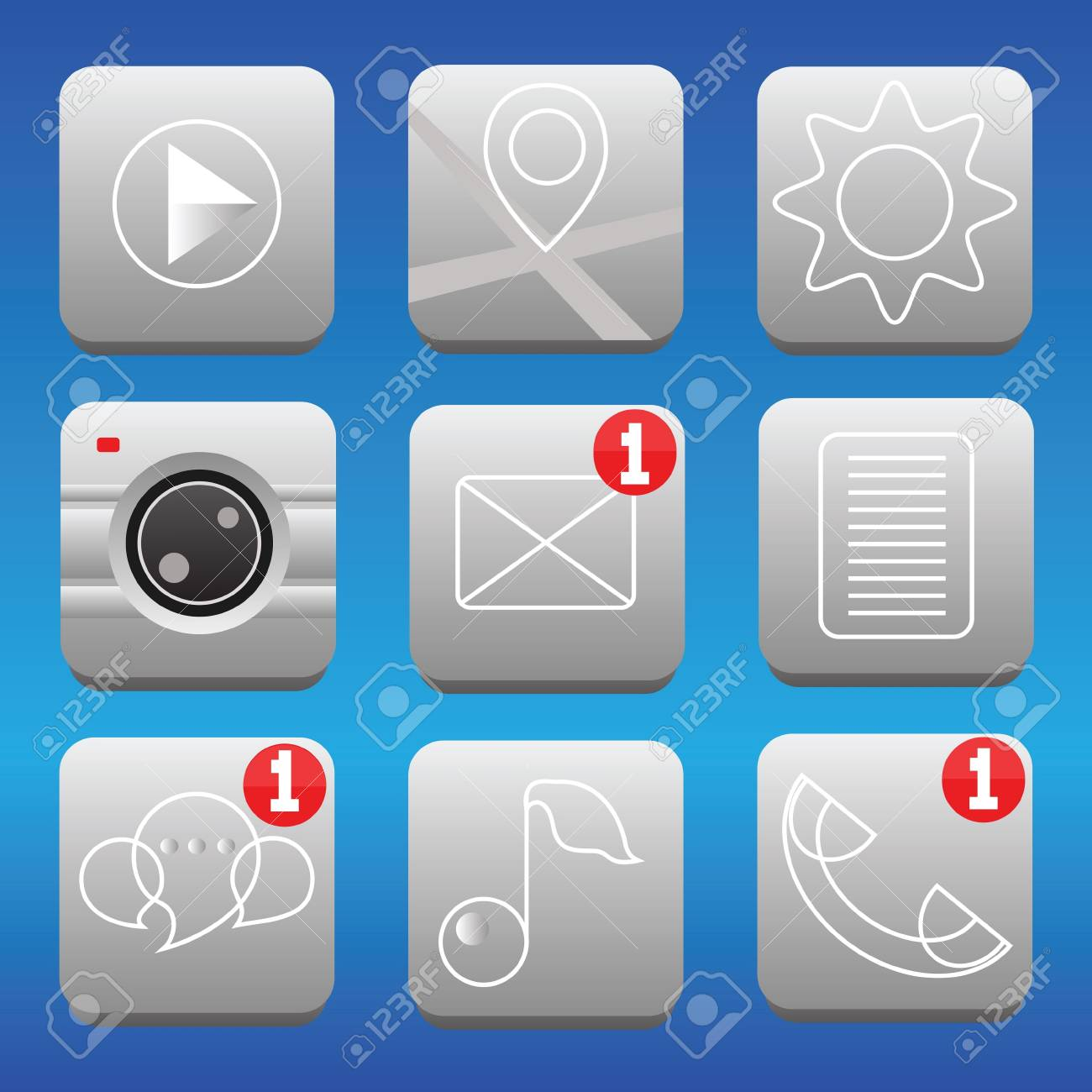 set of icons for smartphone Stock Vector - 20038485