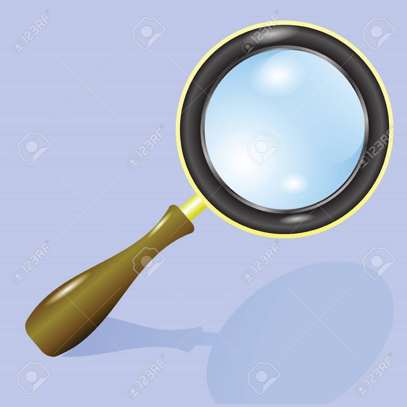 colorful illustration with magnifying glass for your design Stock Vector - 20038506
