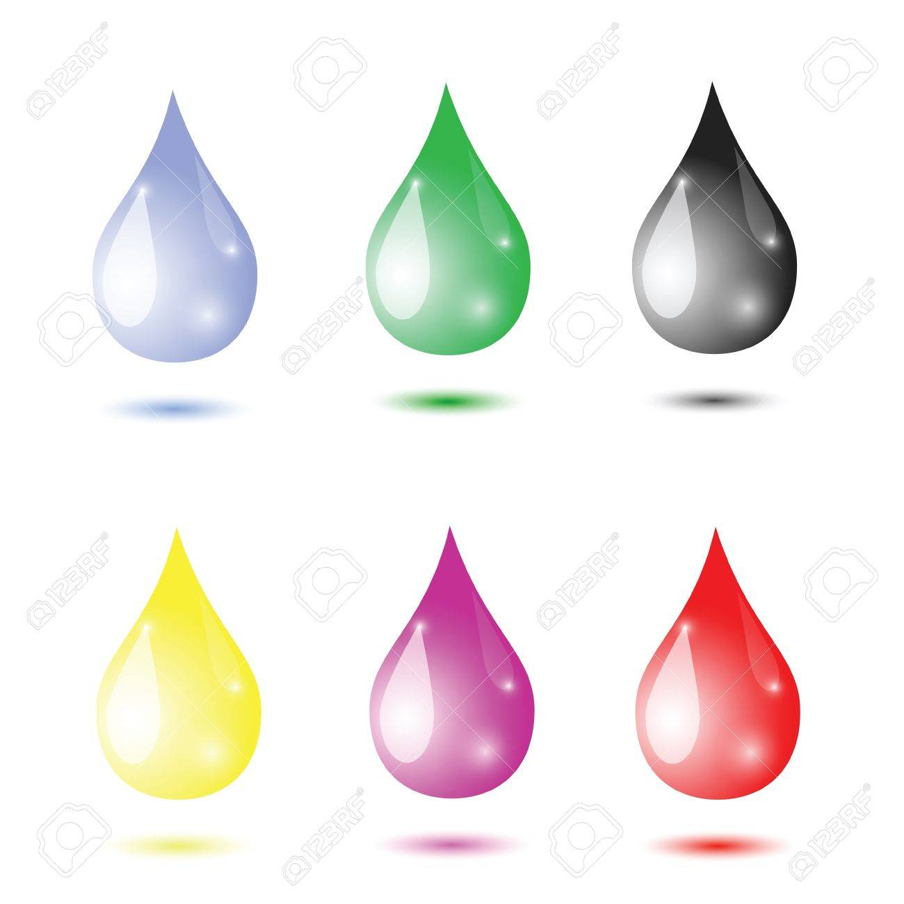 colorful illustration with water drops for your design Stock Vector - 20162442