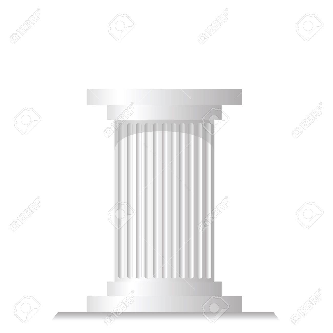 colorful illustration with ancient column for your design Stock Vector - 21379063