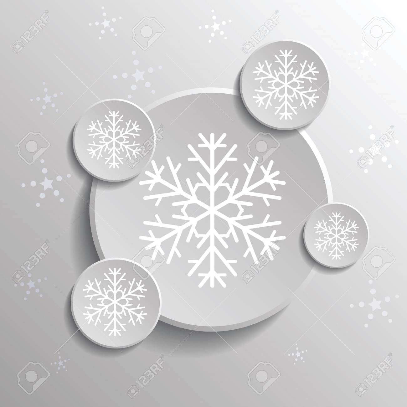 colorful illustration with abstract snowflakes  for your design Stock Vector - 22910741