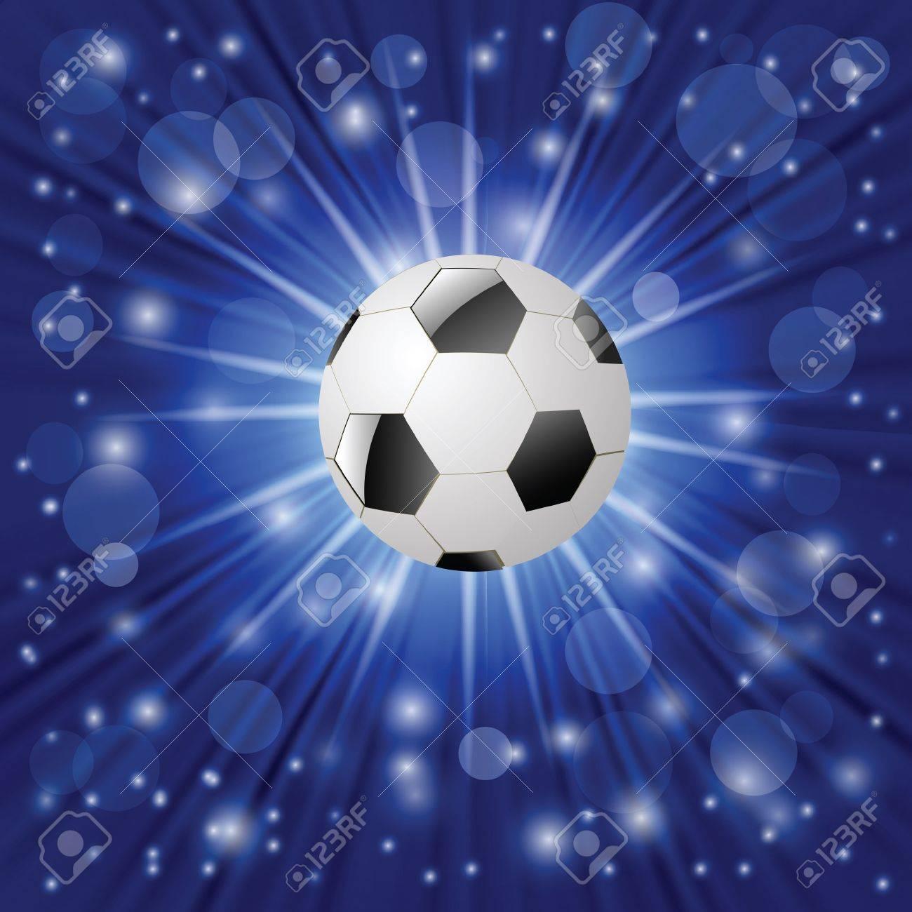 Vettoriale Illustrazione Colorata Con Pallone Da Calcio Su Sfondo