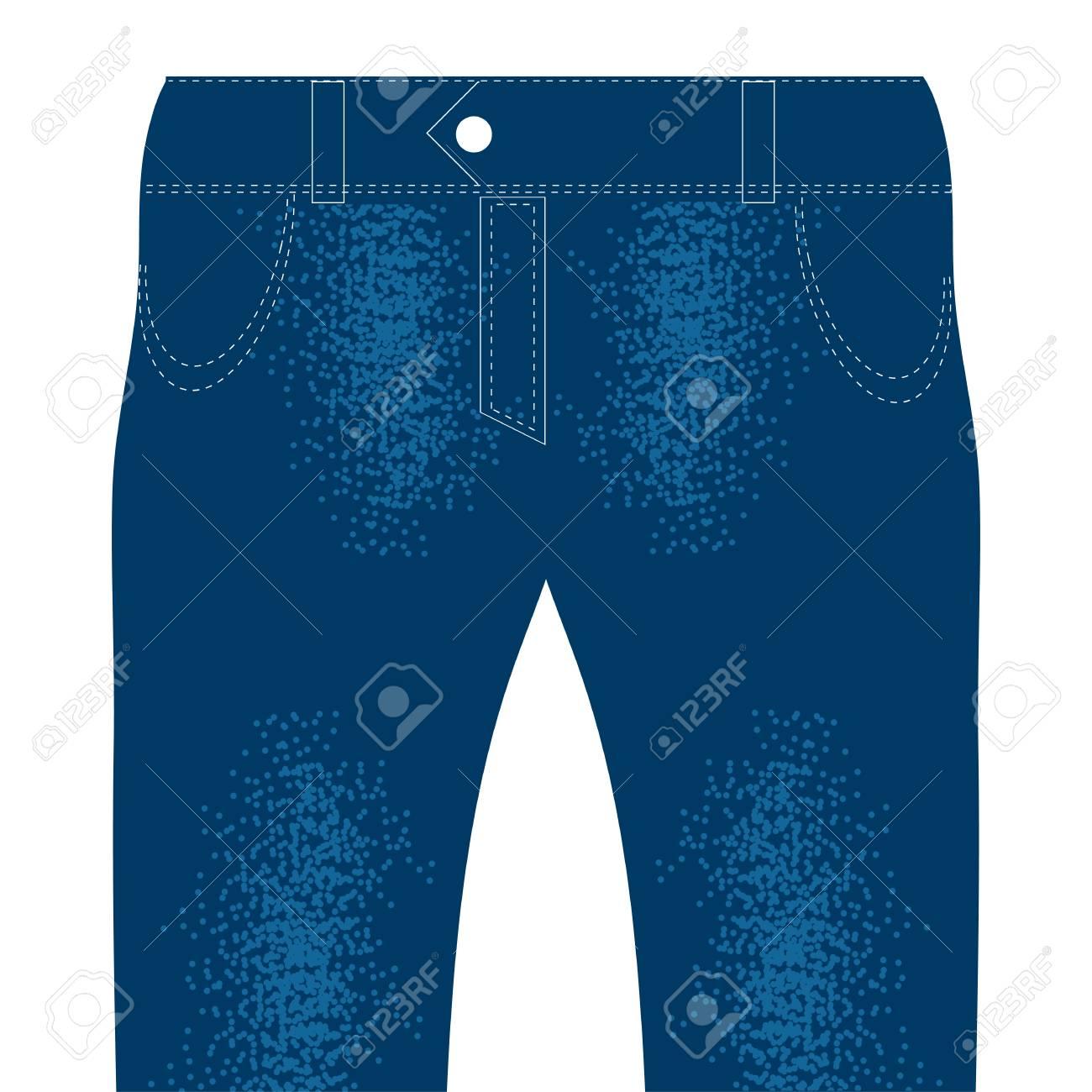 Blau Cotton Jeans Getrennt Auf Weißem Hintergrund. Lizenzfreie Fotos ...