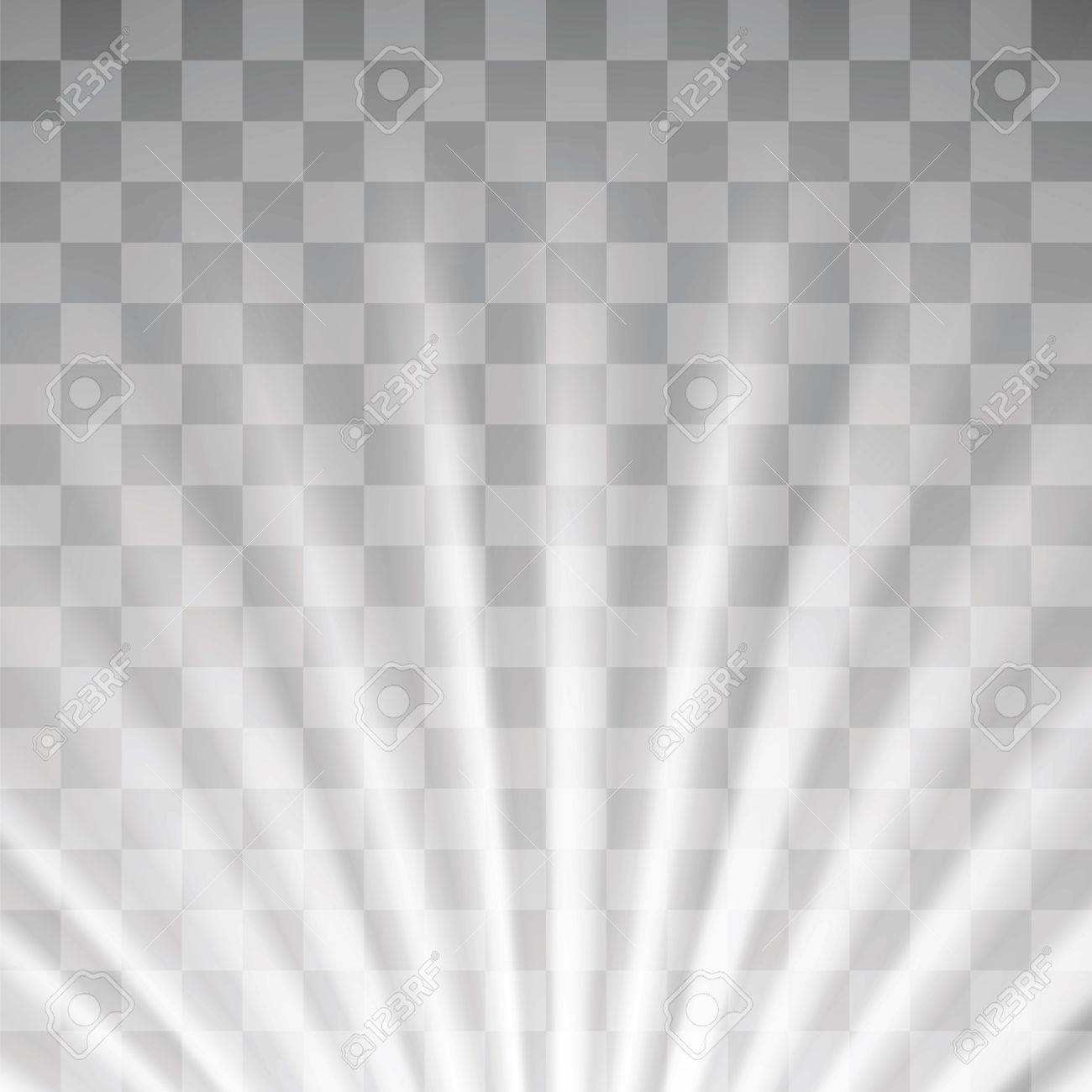 Transparent Light On Gray Checkered Background Blurred Sun Rays Stock Vector