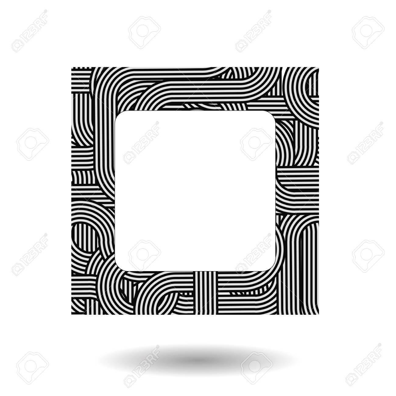 Einzelne Gestreiften Rahmen Isoliert Auf Weißem Hintergrund ...