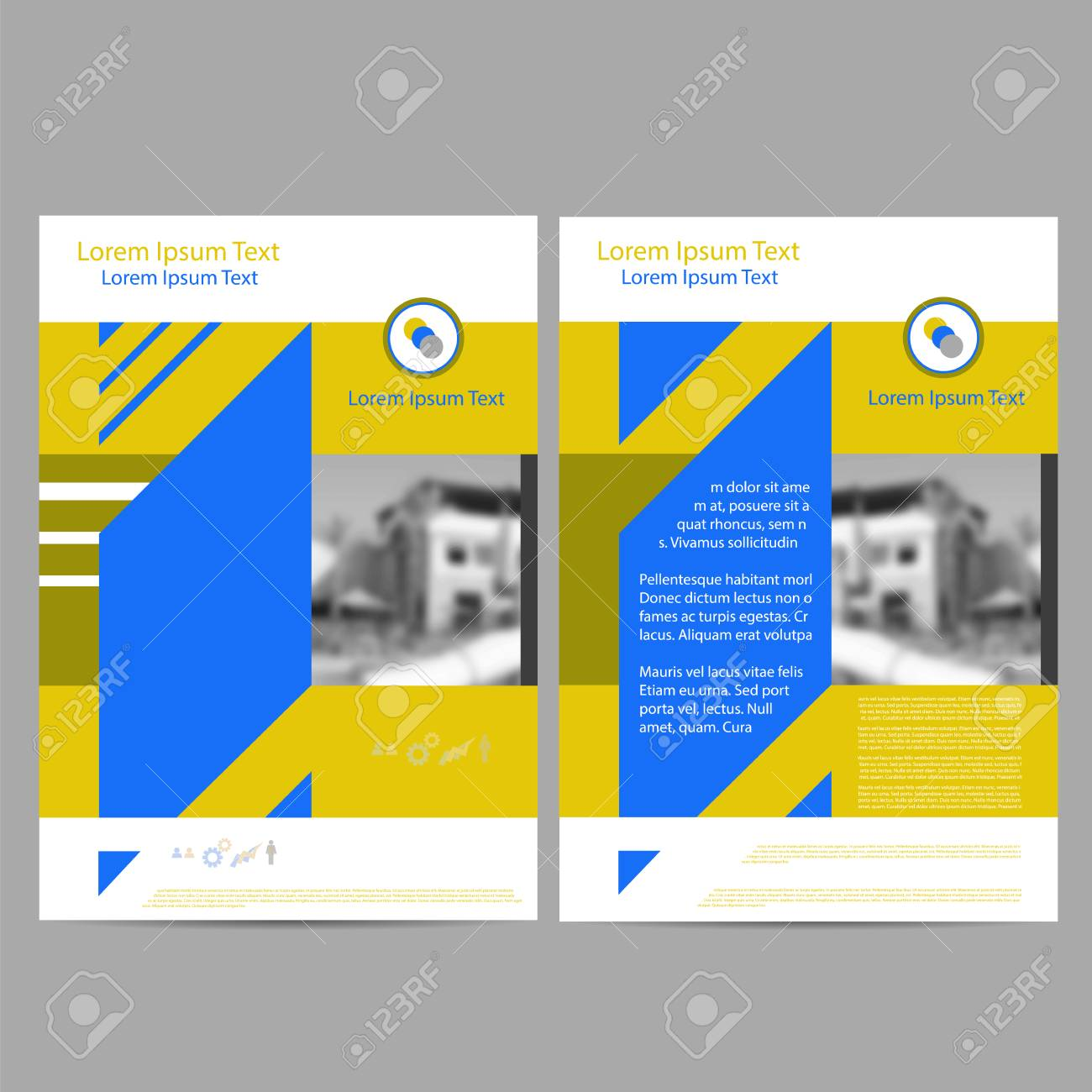 Annual Report Leaflet Brochure Flyer Template A Size Design Book - Brochure flyer templates