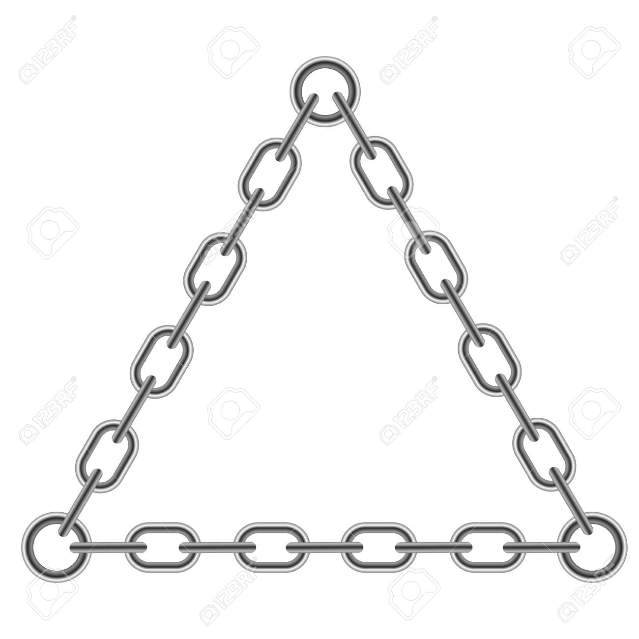Kette Dreieck Rahmen Isoliert Auf Weißem Hintergrund Lizenzfrei ...