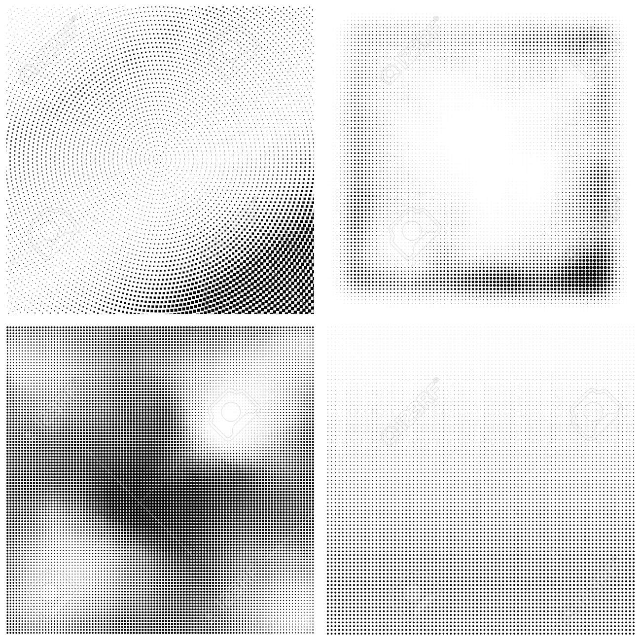 Halftone Pattern. Set of Dots. Dotted Texture on White Background. Overlay Grunge Template. Distress Linear Design. Fade Monochrome Points. Pop Art Backdrop. - 147865170
