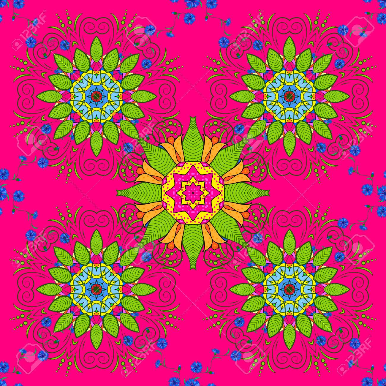 Vector Boho Chic Flower Seamless Pattern Elegant Floral Background For Wallpaper Gift Paper