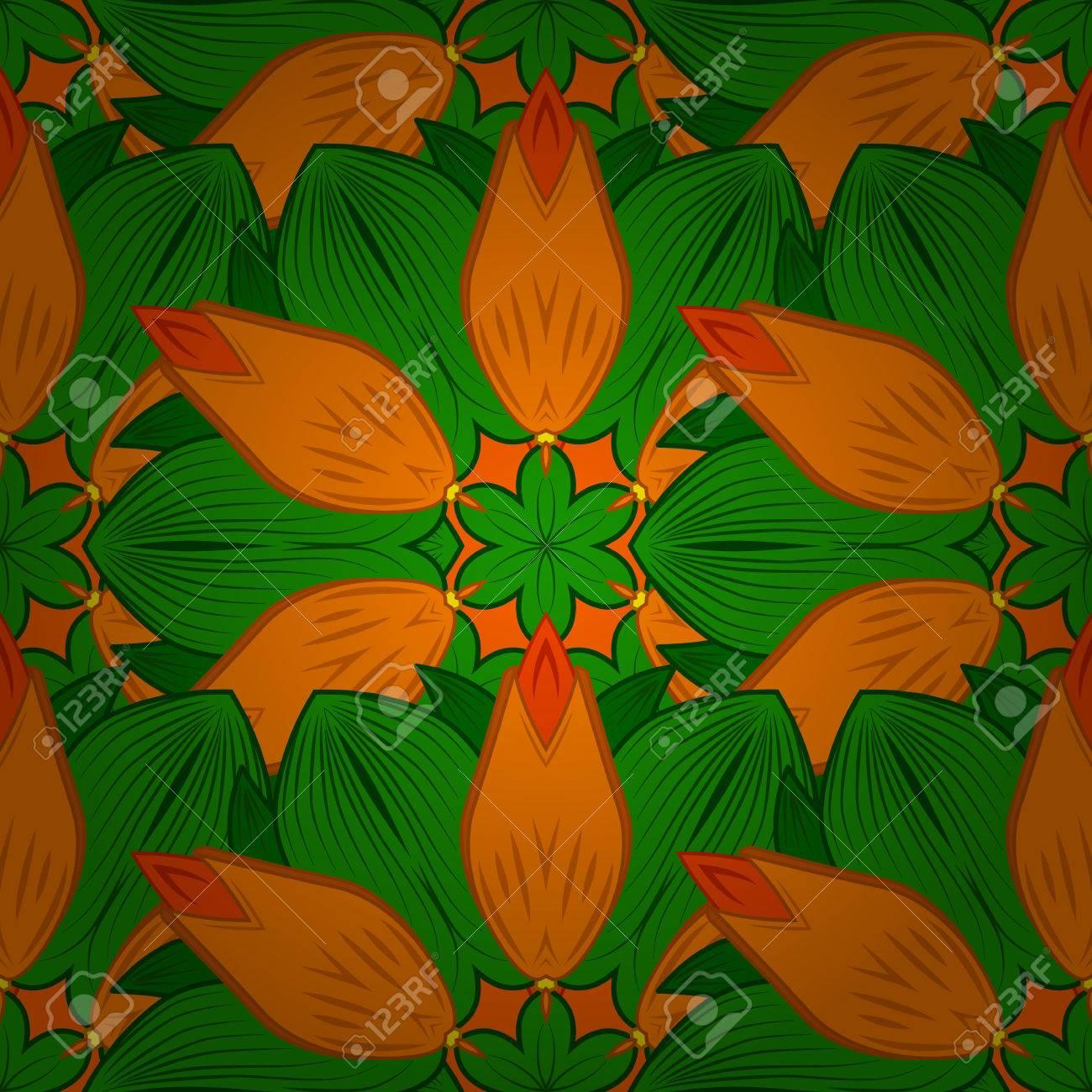 Vettoriale Seamless Motivo Floreale Mandala In Rosa Turchese