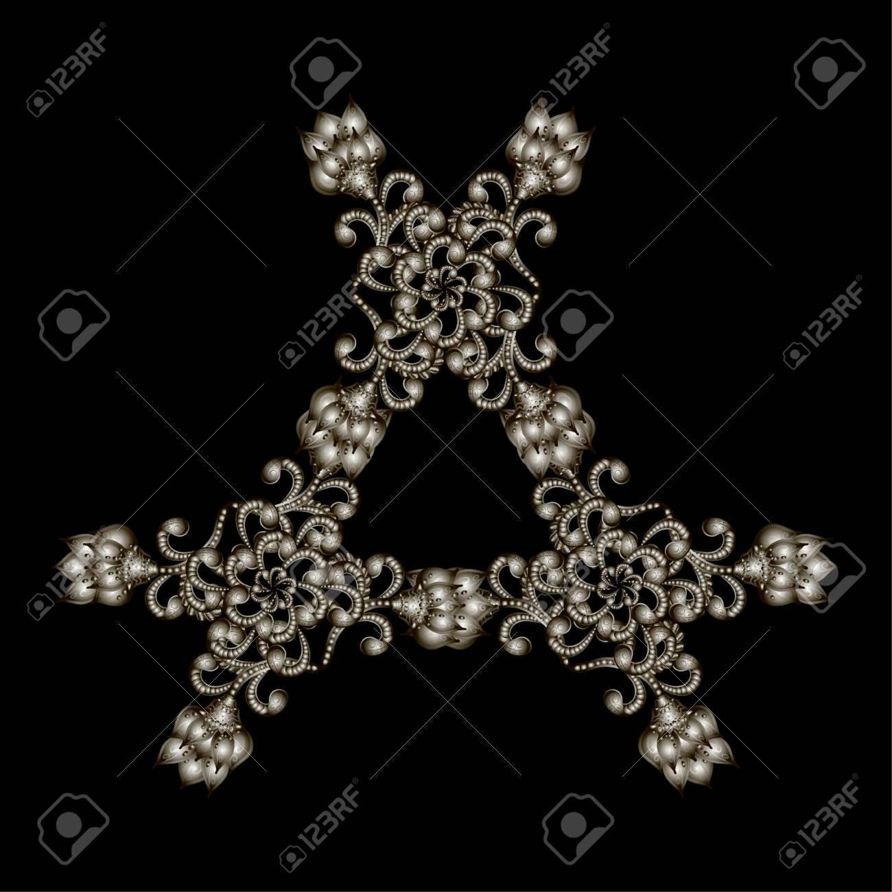 Cristalina Del Copo De Nieve Precioso. Hermosas Joyas, Medallón ...
