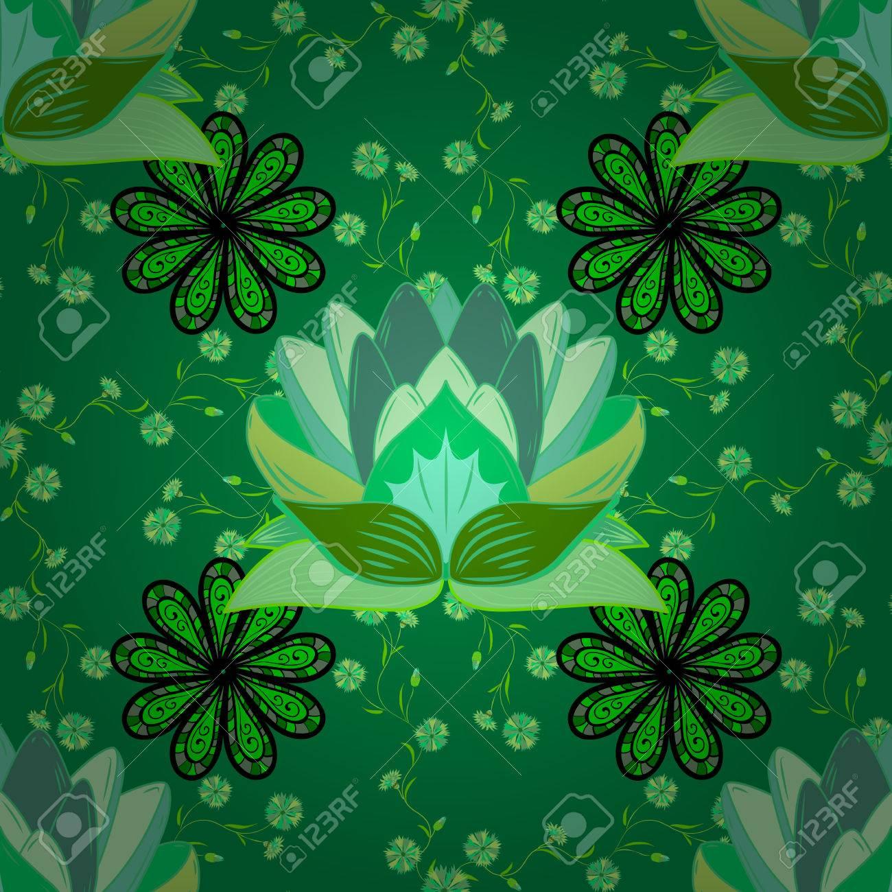 Lotuses Roses Dans L Etang Motif Lily Seamless Fleurs D Eau Et De