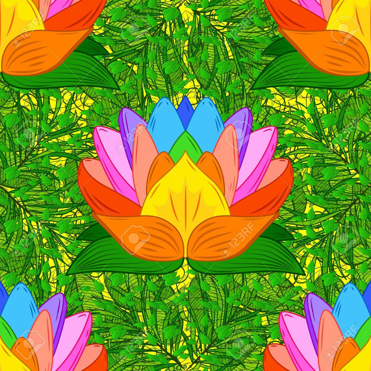 Colorful lotus flowers seamless background vector illustration colorful lotus flowers seamless background vector illustration stock vector 67513787 mightylinksfo