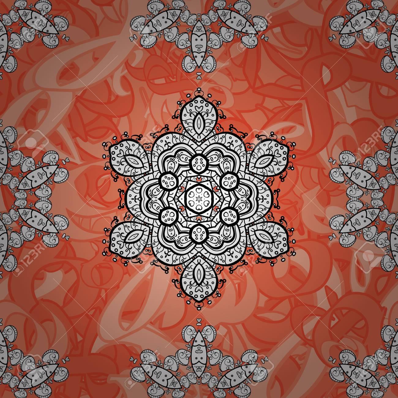 抽象的な花綺麗な模様。斑点を付けられたベクトル イラスト。背景。背景