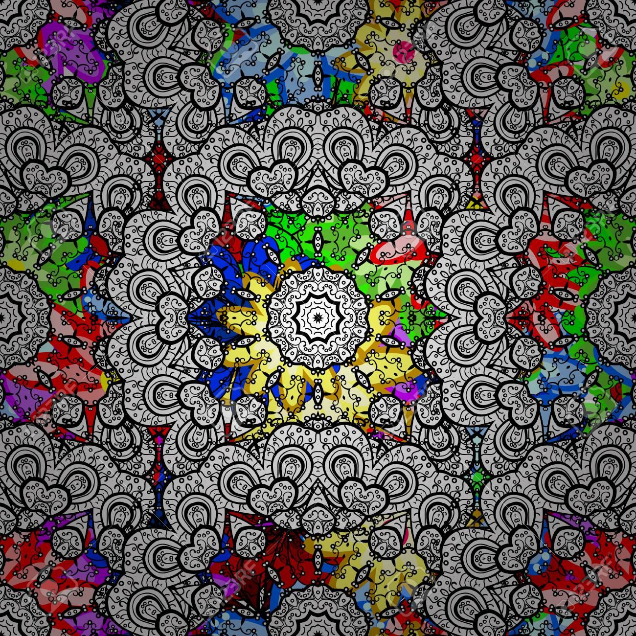 Patrón Sin Fisuras Resumen De Antecedentes Florales Dibujo