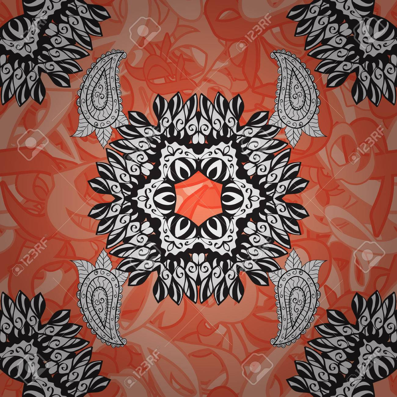 Doodle Background In Vector With Doodles, Flowers And Paisley ...