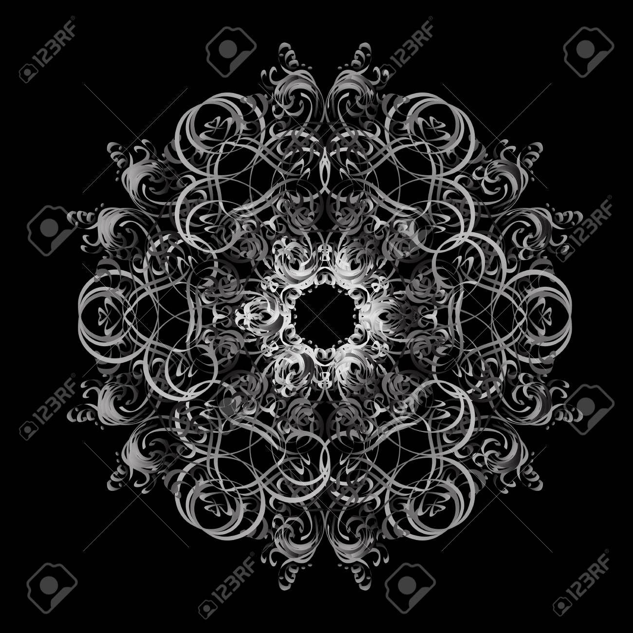 damask pattern background for sketch design in the style of baroque silver pattern on colorful