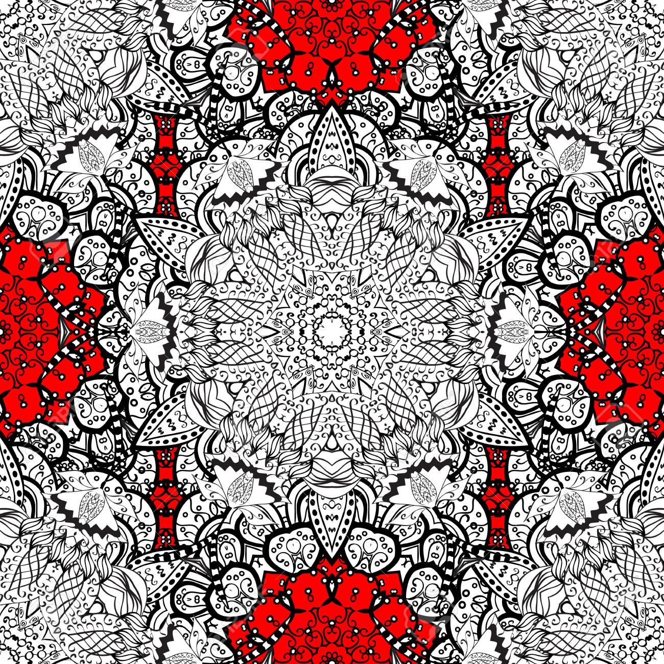 Seamless medieval floral royal pattern decorative symmetry seamless medieval floral royal pattern decorative symmetry arabesque gold on red background good stopboris Choice Image