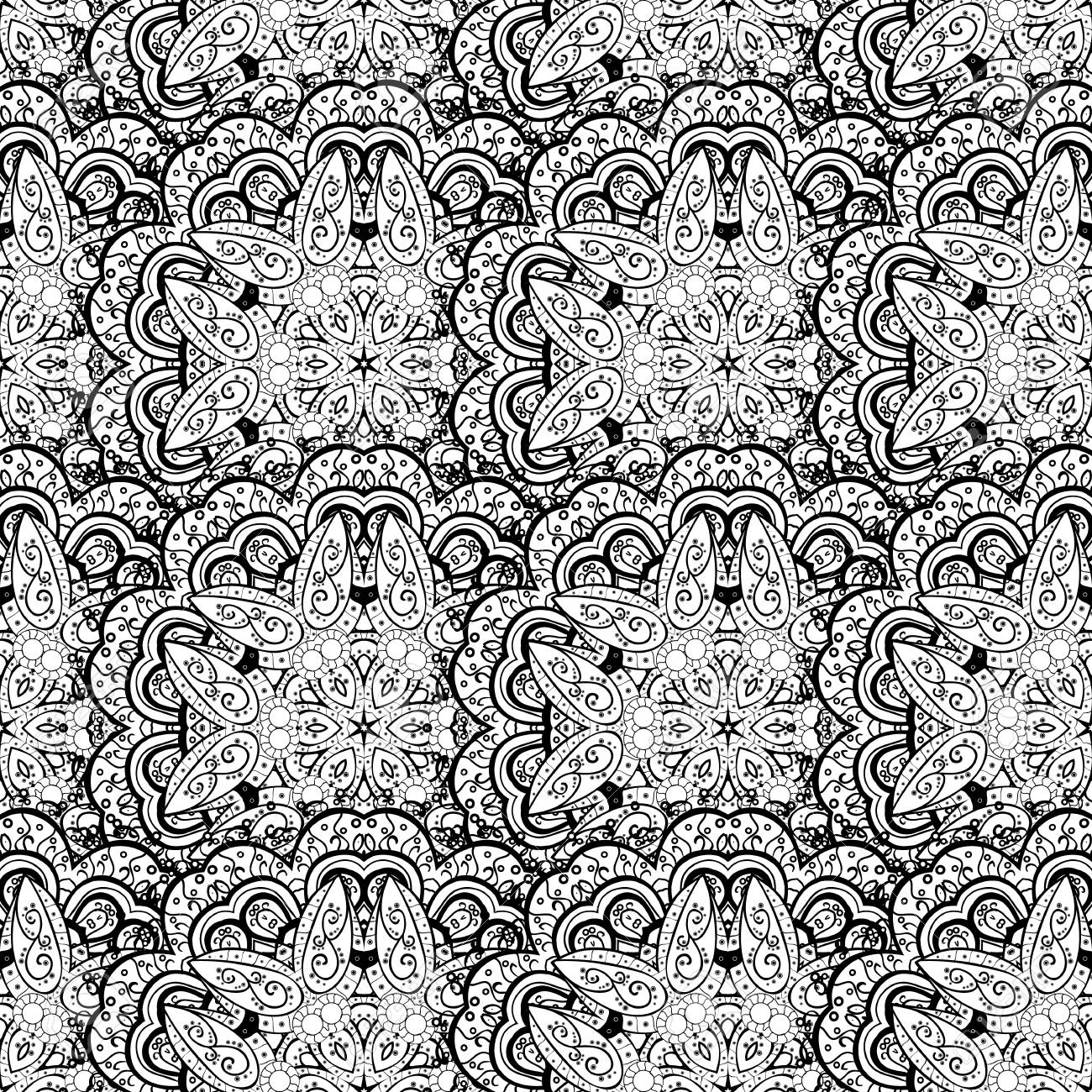 Seamless medieval floral royal pattern vector illustration seamless medieval floral royal pattern vector illustration decorative symmetry arabesque good for greeting stopboris