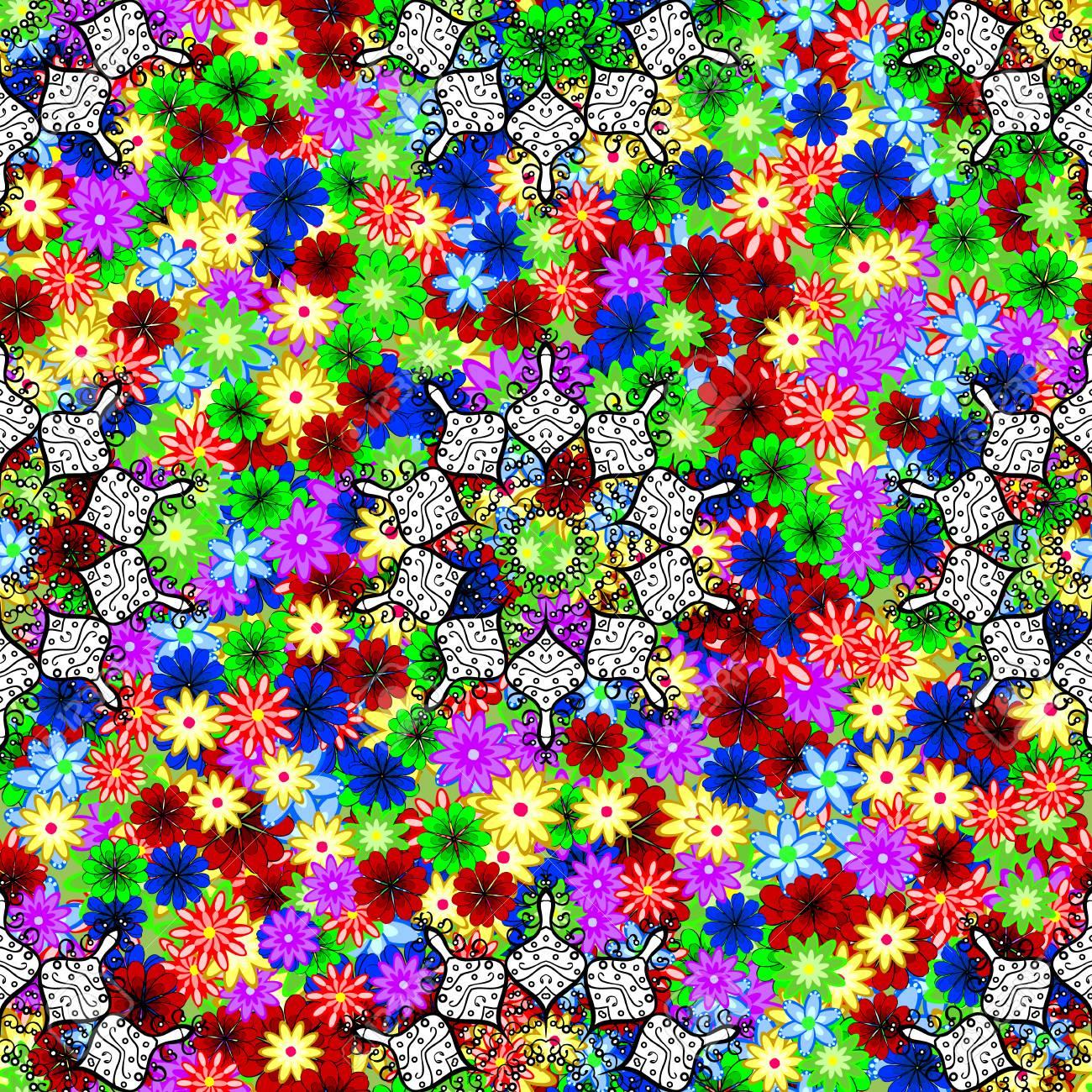 Patrón Floral De Vector Para Invitaciones De Boda Tarjetas De Felicitación Scrapbooking Impresión Papel De Regalo Tela De Fabricación Y Textil