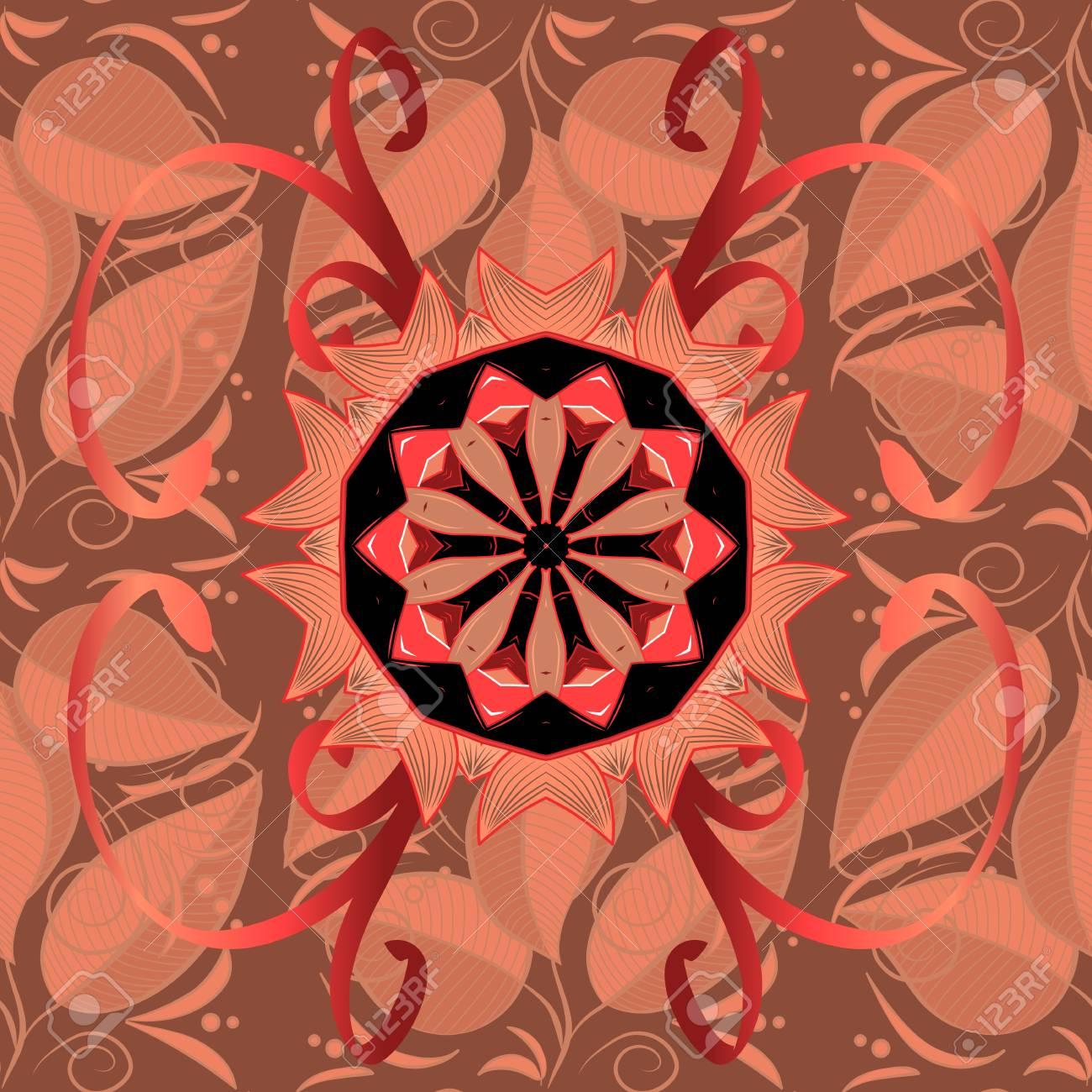 Mandala Vector Flor Floral Oriental Libro Para Colorear Página ...