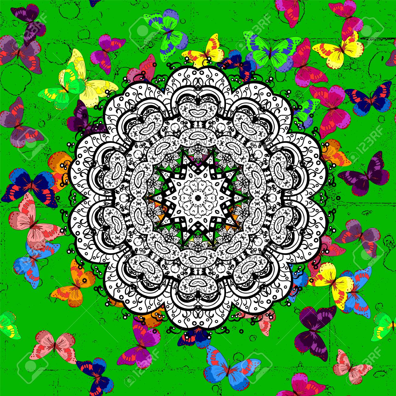 Vector floral wedding decorative elements ornamental mandala vector vector floral wedding decorative elements ornamental mandala mehndi floral lace of buta decoration items on green background junglespirit Choice Image
