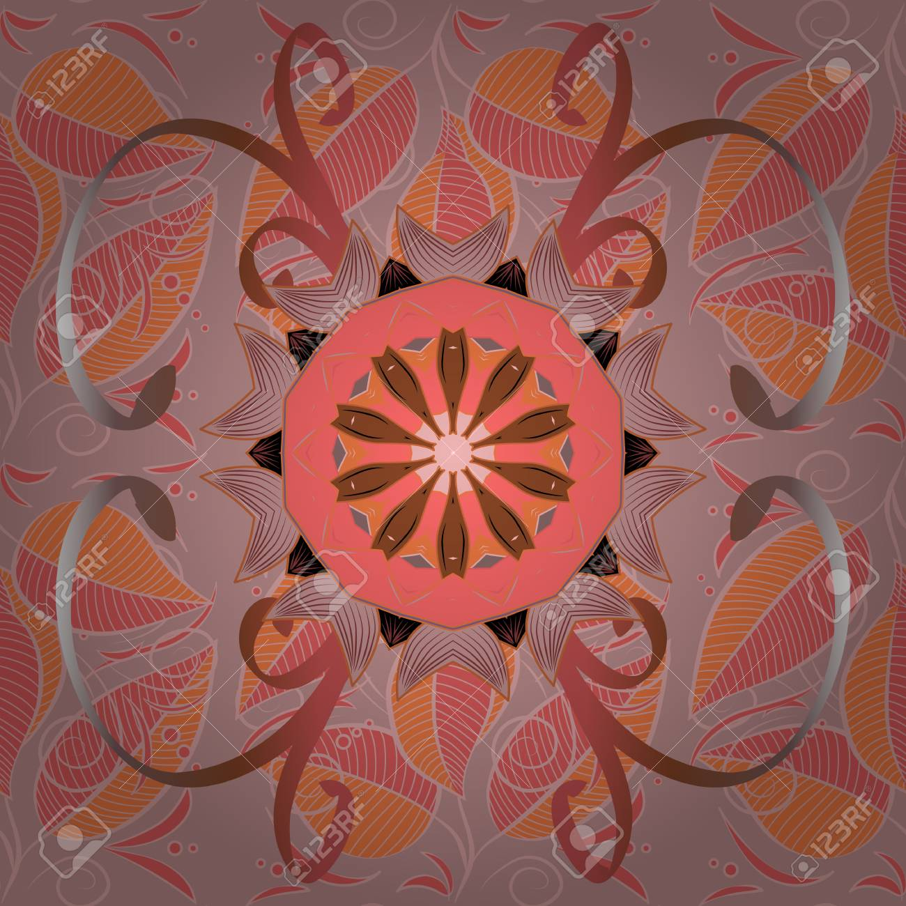 Vector Mandala. Tiled Mandala Design, Best For Print Fabric Or ...
