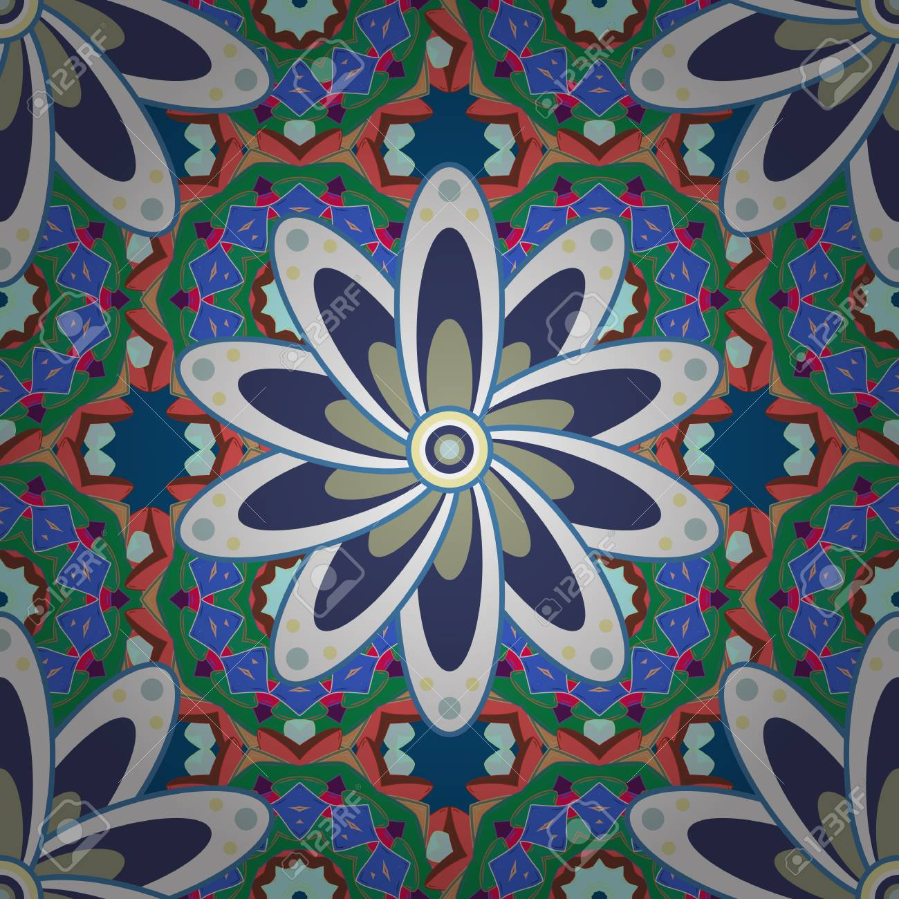 Vector Floral Pattern For Wedding Invitations, Greeting Cards ...