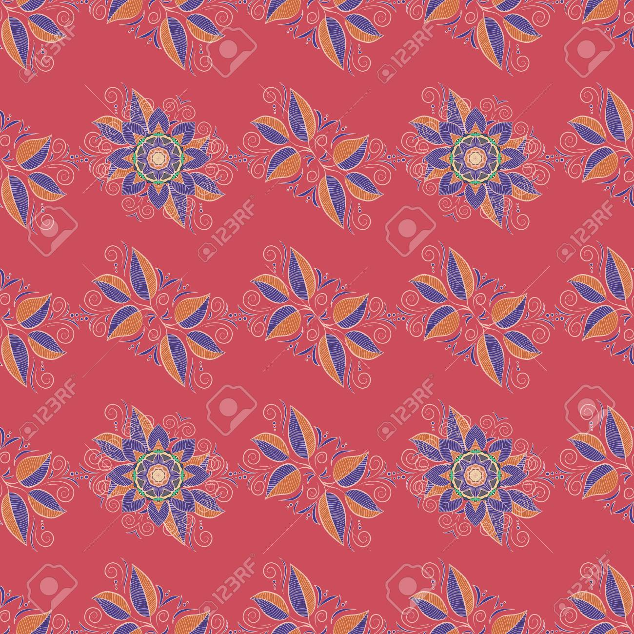Colorful Background. Mandala Vector Floral Flower Oriental Coloring ...